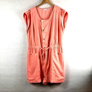 new york and company XL romper short salmon